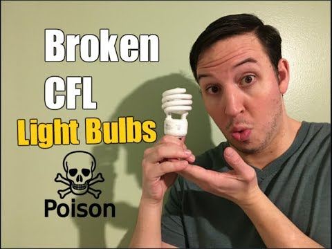 How To Clean Up & Dispose of Broken CFL Light Bulbs
