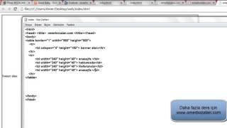 Sadece Not Defteri Kullanarak Web Sayfa Yapımı  1