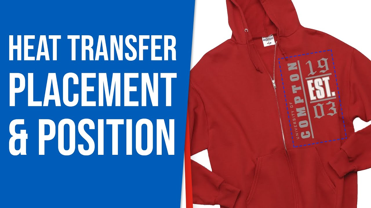 Heat Transfer Placement Amp Position Youtube