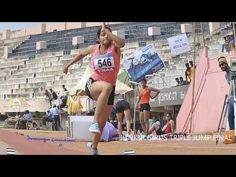 JUNIOR GIRL'S  TRIPLE JUMP FINAL. 16th FED CUP NATIONAL JR ATHLETICS CHAMPIONSHIPS 2018