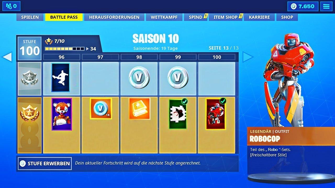 Fortnite Season 10 Battle Pass Skins Emotes Items