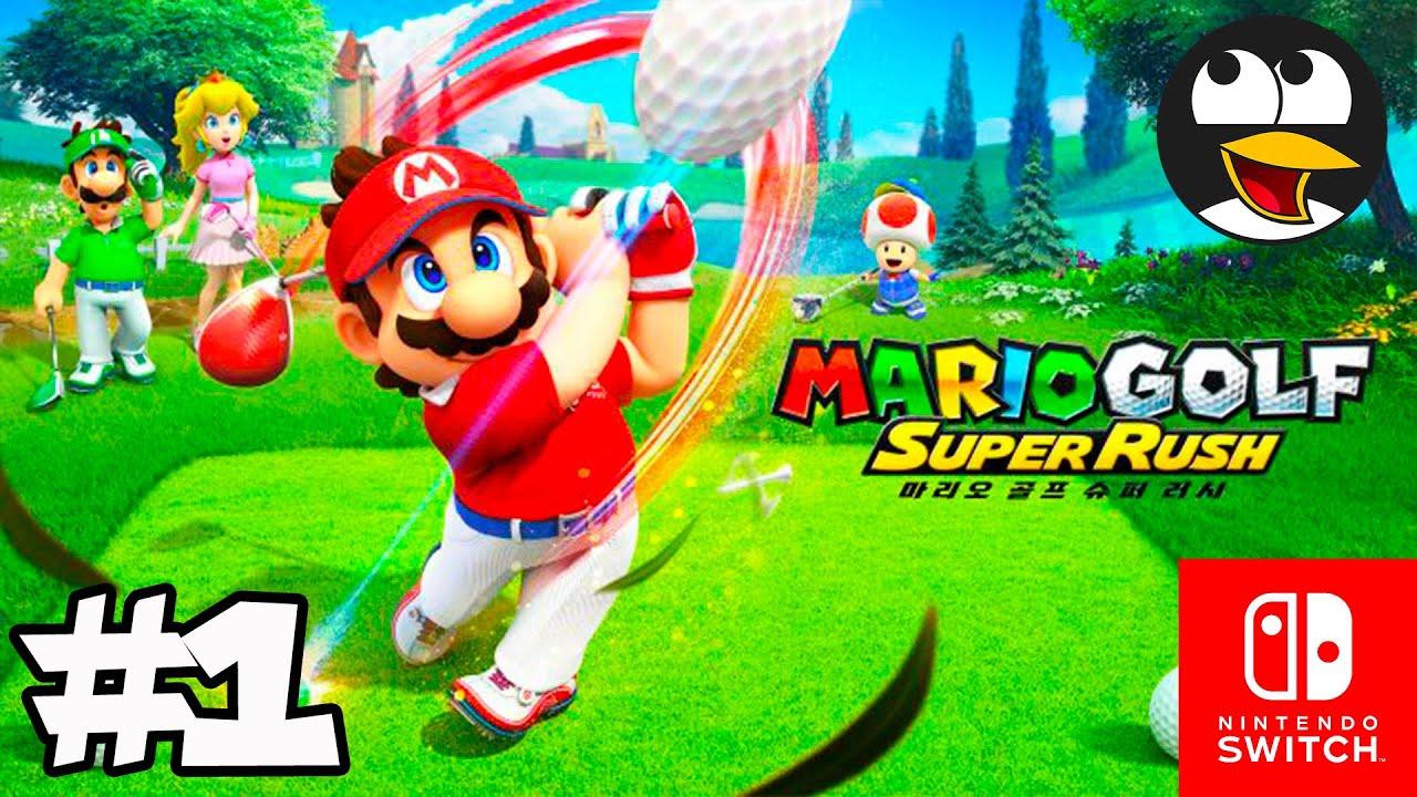마리오 골프 슈퍼 러시 한글판 게임플레이 파트1 (닌텐도 스위치) 만화게임하기   마리오 비디오 게임영상 한글로