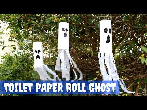 Toilet Paper Roll Ghost | Halloween Crafts