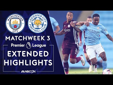 Manchester City v. Leicester City | PREMIER LEAGUE HIGHLIGHTS | 9/27/2020 | NBC Sports