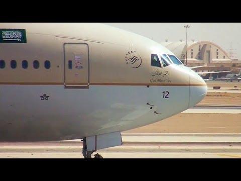 Riyadh Airport Traffic RUH/OERK الحركة الجوية في مطار الرياض