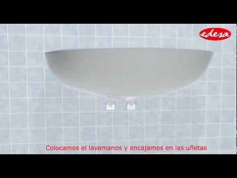 Instalaci n lavamanos pompano con pedestal corto youtube - Lavamanos sin instalacion ...