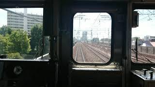 東武スカイツリーライン草加~西新井 竹ノ塚工事中横を走る