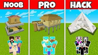 Minecraft - NOOB vs PRO vs GOD: SURVIVAL FAMILY HOUSE CHALLENGE in Minecraft / Animation
