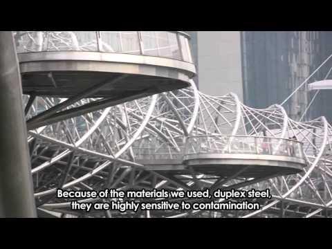 Singapore Iconic Bridges -- The Helix