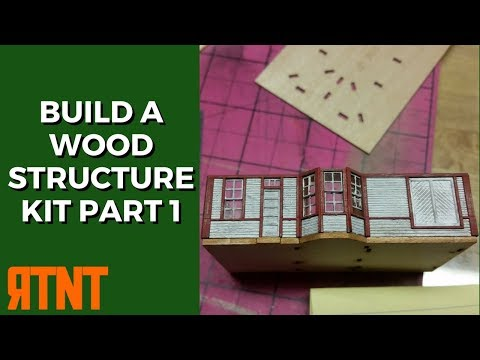 How to Build and Weather a Craftsman Wood Structure KIt for Your Model Railroad Layout