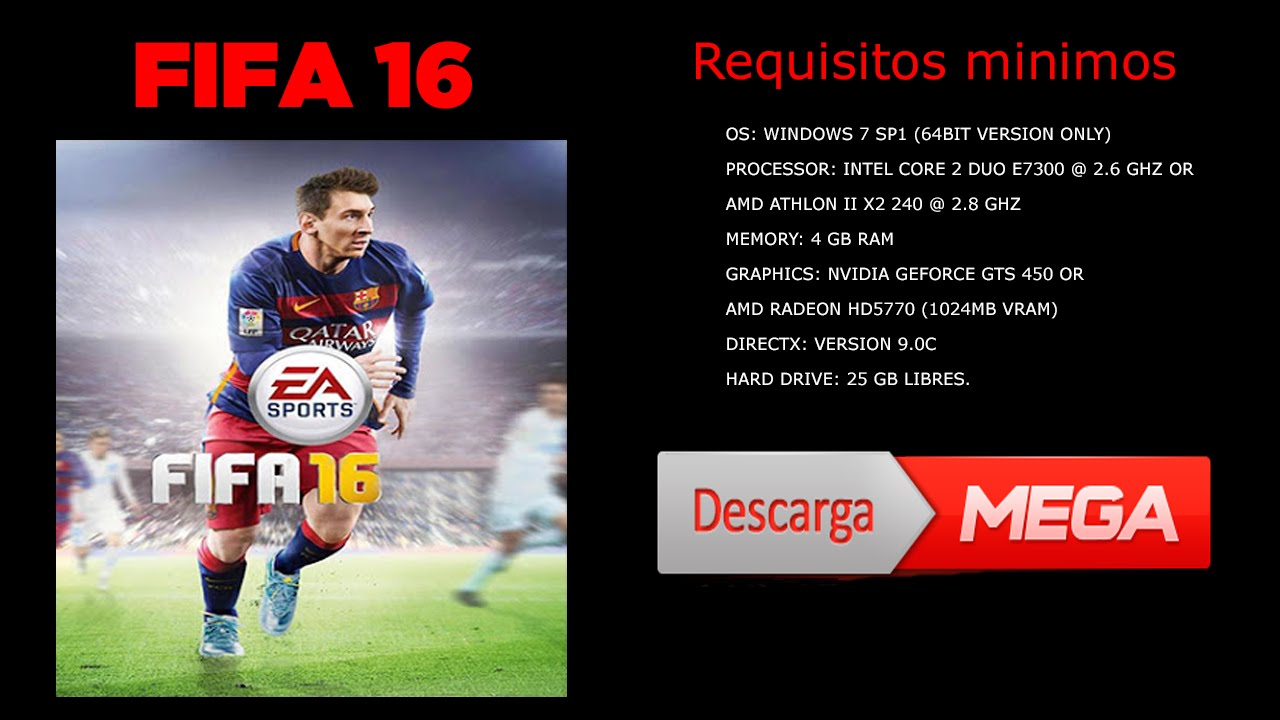 descargar fifa 16 + crack full en espanol para pc (septiembre 2016)