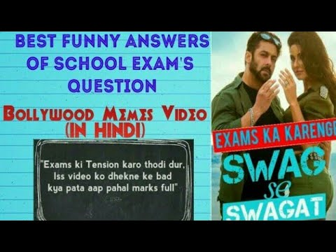 #1Best Funny Answers Of Bollywood On School Exam Questions.