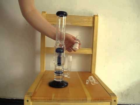 honeycomb disk Bong with 9 am tree perc two functions