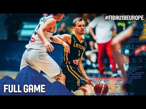 Italy v Lithuania - Full Game - Quarter-Final - FIBA U18 European Championship 2017