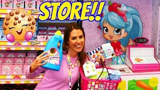 REAL LIFE SHOPKINS STORE!!! Buying Toys at The Shoppies Toy Store + New Toys