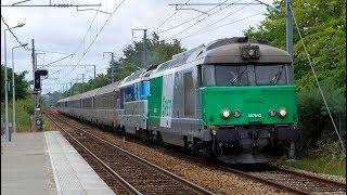 Fret, Intercités, TER & Divers - Nantes, Thouaré-sur-Loire, Saint-Sébastien-sur-Loire, 08/08/2017