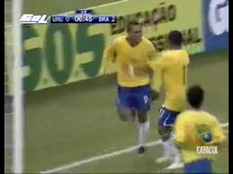 Brasil 4- Uruguay 0..South American WC 2010 Qualifiers