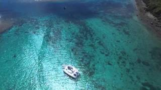 Flying over Middleton reef and lord Howe Island hd