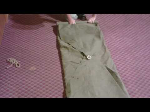 Pack (roll) a Military Shelter half (pup-tent Dog-tent 2 man Shelter Tent) - YouTube & Pack (roll) a Military Shelter half (pup-tent Dog-tent 2 man ...