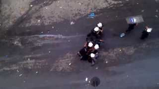 turkish police beats and arrest journalist in the middle of a street while people are watching
