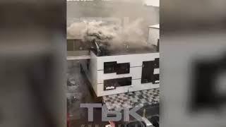 В центре Красноярска горит кафе