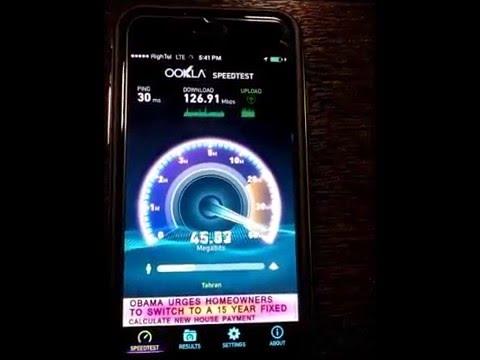 RighTel Speed Test 4G LTE In Iran