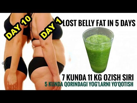 7 KUNDA 11 KG OZISH SIRI // NO WORKOUT NO DIET //Lose Belly fat in just 5 Days.