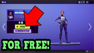 HOW TO GET BRITE BOMBER SKIN FOR FREE! (Fortnite Old Skins)