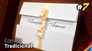 Convite de Casamento ( Tradicional ) - Invitación de Boda - Wedding Invitation DIY #7