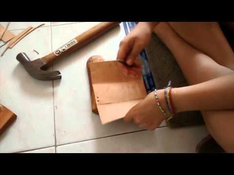 C mo hacer un estuche de cuero paso a paso youtube - Como hacer hormigon a mano ...