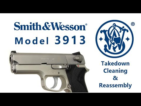 Smith & Wesson Model 3913 Takedown, Cleaned and Reassembled