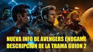 Avengers Endgame Descripción de la Toda la Película Guion 2 Explicación Historia Completa