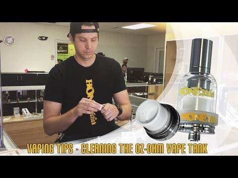 Frequently Asked Questions | How to Clean the Oz-ohm Vape tank by HoneyStick