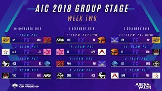 Arena of Valor International Championship Group Stage Day 2