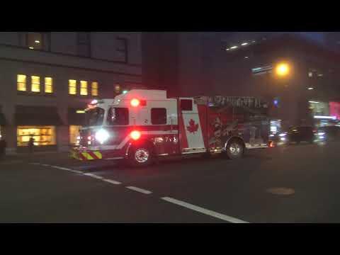 *Fog Response* Vancouver Fire & Rescue Services - Rescue Engine 7 Responding