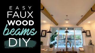 Easy faux wood ceiling beams DIY