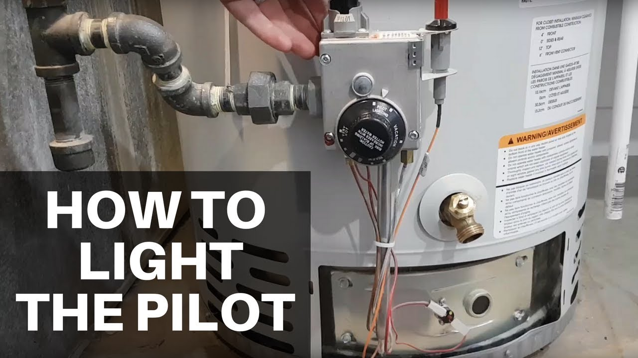 How To Light Your Water Heater S Pilot Flame Youtube
