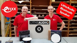 Lithe Audio - Powered ceiling speakers with Bluetooth connectivity and IP44 rating