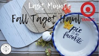 FARMHOUSE FALL: LAST MINUTE TARGET FALL HAUL| SHOP WITH ME September 2018[Doug&Marie At Home]