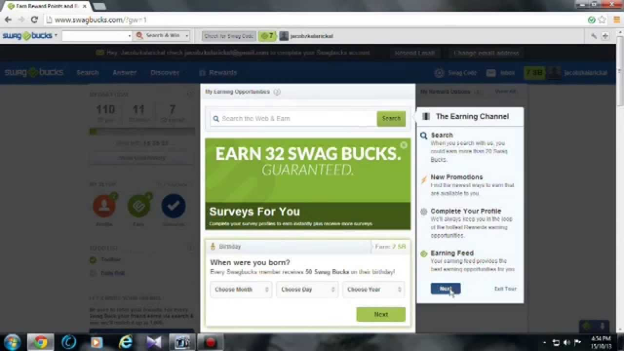How to creat a swagbucks account