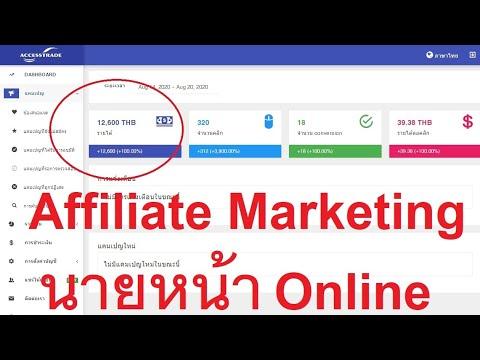หาเงิน Online ด้วย Affiliate Maketting หรือนายหน้าออนไลน์ ได้วันละเป็นพัน