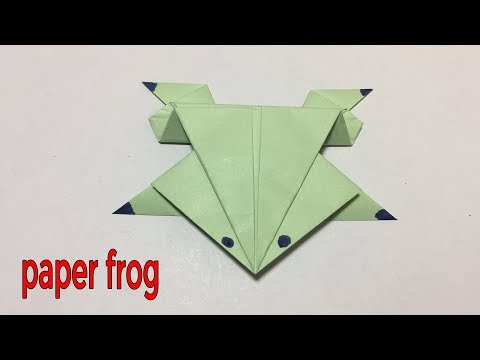 How to make a paper frog - origami frog Easy tutorial 🐸