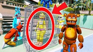 "SENDING CHICA TO JAIL! YOU""LL BE MAD AT HER (GTA 5 Mods For Kids FNAF Funny Moments)"