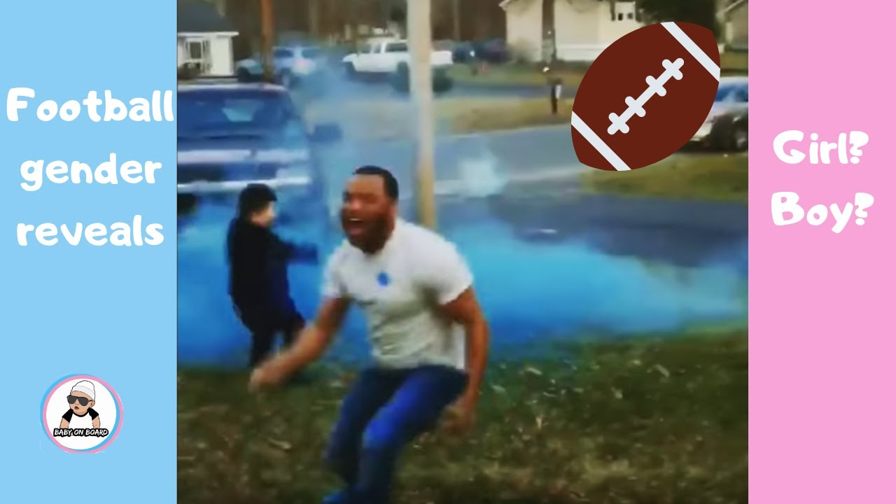 best super bowl and football baby gender reveal