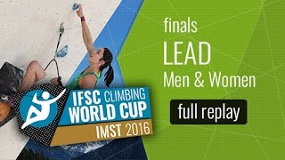 Watch the full replay of the Imst MEN & WOMEN Lead Finals. All the ...