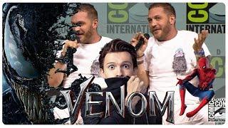 VENOM: Tom Hardy Makes Fun of Tom Holland   Spider-Man vs Venom   Comic Con Panel (SDCC 2018)