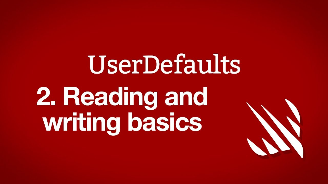 Reading and writing basics: UserDefaults - a free Hacking