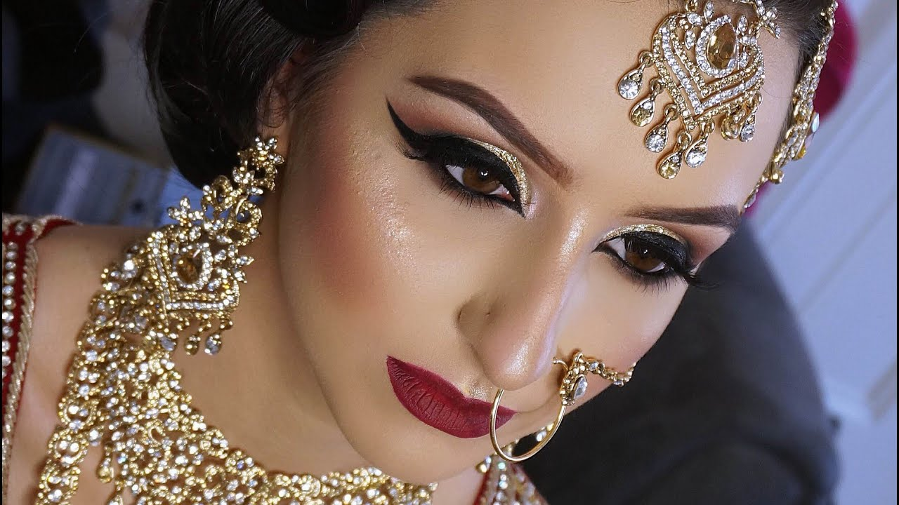 real bride asian bridal makeup traditional signatur