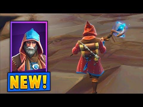*NEW* Castor Wizard Skin w/the Spellslinger Pickaxe! (Fortnite)