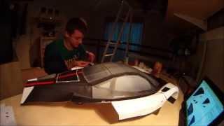 Pagani Zonda Cinque papercraft Time Lapse